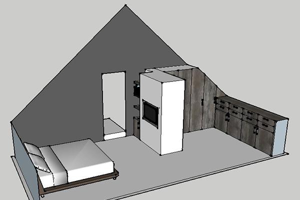 3D ontwerp inloopkast